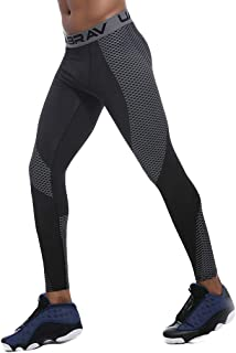 Cinhent Men Sports Fitness Leggings Breathable Tights Full Length Pants Casual