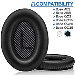 Compatibility: Link Dream Replacemen Ear Cushions Kit for Bose QC 35 series are designed the same as original, these soft protein leather foam ear pads fit great with Bose Quiet Comfort 35 35II, Quiet Comfort 25, Quiet Comfort 15, Quiet Comfort 2, AE...