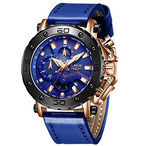 Heren horloges LIGE mannen sport waterdicht chronograaf datum kalender polshorloge mode jurk multifunctioneel stopwatch analoog kwarts horloge