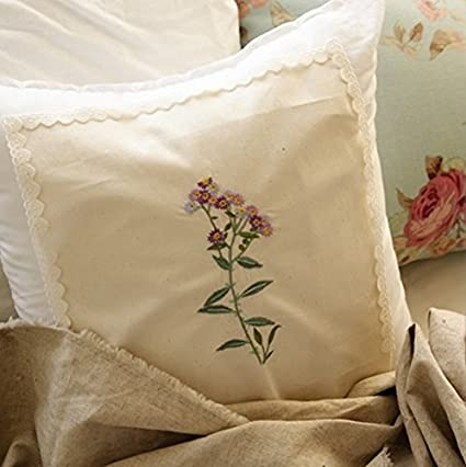 """Washed Cotton Fabric BH Wildflower Embroidered Broderie Anglaise 11/"""" laceking"""
