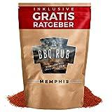 BBQ Rub 'Memphis' 270g | Trockenmarinade für Pulled Pork & Spareribs inkl. Gratis Ratgeber | Marinadengewürz Grillgewürz Barbecue Marinade Grillsalz