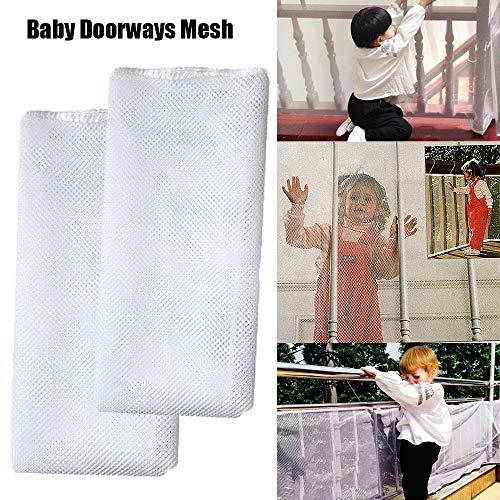 Red de seguridad para barandas de escalera para niños Protección contra caídas para bebés Red de seguridad Protección para niños Escalera para bebés Escalera de balcón Puerta Malla 200x74cm/300X74cm