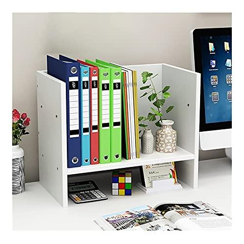 Estantería de escritorio para decoración de cubículo multifuncional, organizador de escritorio para accesorios de escritorio, decoración de dormitorio (color blanco)