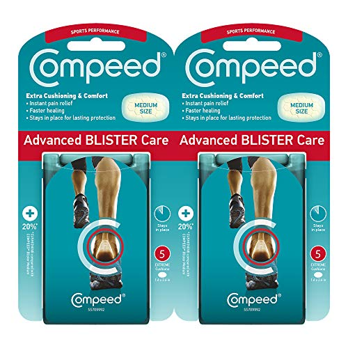 Compeed Advanced Blister Care Cushions, 5 Count Sport Pads (2 Pack) -...