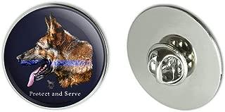 GRAPHICS & MORE Protect and Serve K9 Police Thin Blue Line German Shepherd Dog Metal 1.1