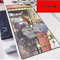 マウスパッド異世界生活スピードゲーミングマウスパッド| XXLマウスパッド| 900 x 400mm大型|完璧な精度とスピード D