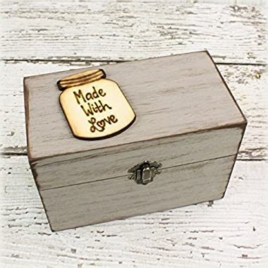 Wood Recipe Box - Rustic Recipe Box - Farmhouse Style Chic - Recipes Organizer - Fixer Upper Style - Rustic Home Decor - Mothers Day Gift
