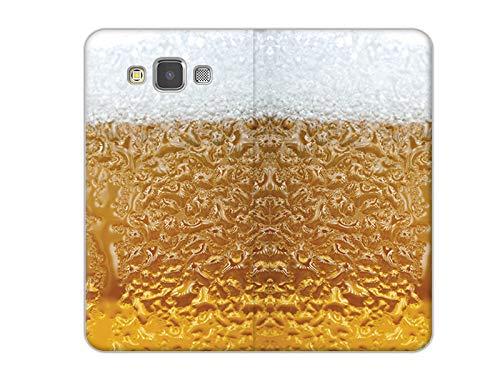 etuo Handyhülle für Samsung Galaxy A5 - Hülle, Handy Flip Hülle - Bier mit Schaum