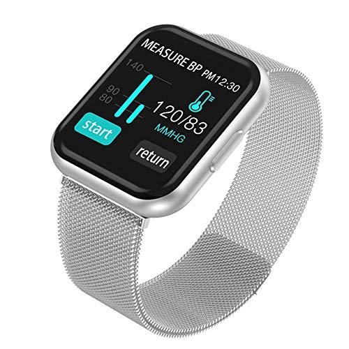 FHKBB Reloj Deportivo Inteligente Podómetro Monitoreo del sueño Frecuencia cardíaca Detección de presión Arterial Pulsera Inteligente Rastreador de Ejercicios