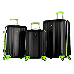 Olympia Apache 3pc Hardcase Spinner Set, Black/Lime
