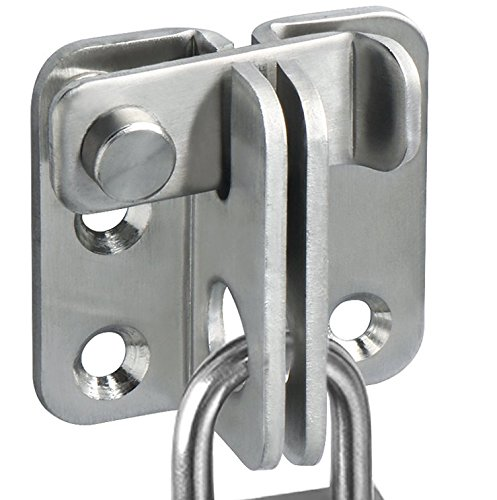 Alise Flip Latch Gate Latches Slide Bolt Latch Safety Door Lock Catch,MS3001 Stainless Steel Brushed Finish