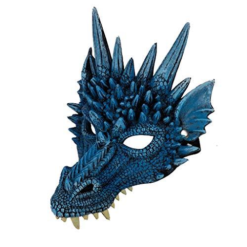 ZZQZZQ Careta Máscara Careta de Aterrador Máscara para Fiesta de Halloween Carnival Party PU Foam 3D Animal Dragon Máscara
