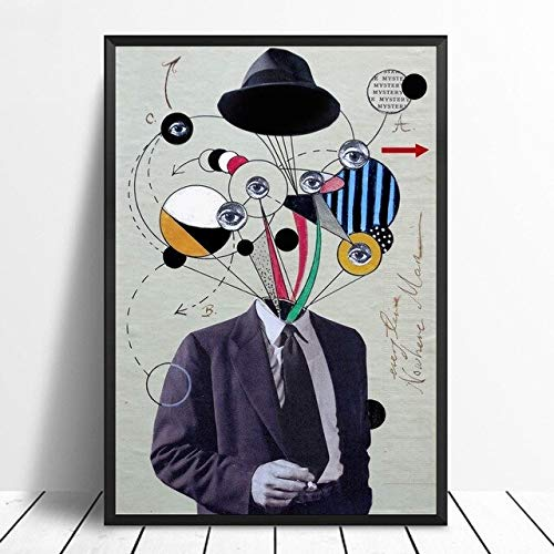 MJKLU RetroHome decoración de Pared Obra de Arte módulo de Lienzo Imagen soplando Burbujas Pintura de impresión HD nórdico Abstracto Creativo Cartel de Sala de Estar