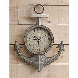 Cooper Classics Maritime Silver Wall Clock