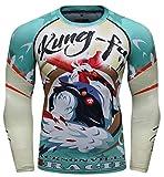 Cody Lundin - Maglietta a compressione da uomo, con stampa digitale a secco, protezione solare, a maniche lunghe, per allenamento e corsa (stile C, grande)