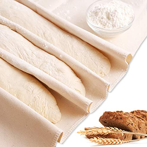 Pastry Cloth Professional Bread Proofer Baguette Pans for Baking  Pastry Cloth for Rolling Dough Bread Cloche for French Bread Baking 35x25 Inches