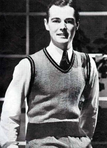 Sport Pullover Knitting Pattern Knitted Men's Sweater Vest
