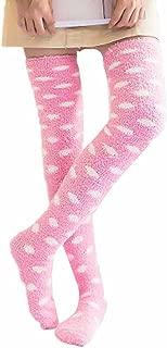 Long Socks Clearance, TOTOD Women Over Knee Leg Warmer Soft Cotton Sock - Girls Mid Tube Thigh High Color Sock