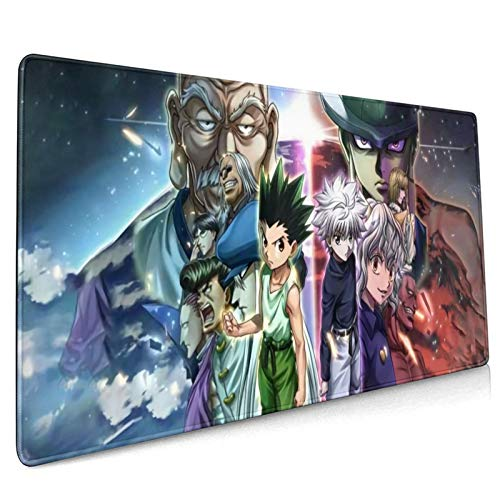 Tilliee Hunter X Hunter Anime Mouse Pad Laptop Computer Anti Slip Mouse Mat for Office/Gaming/Home 15.7x35.4 Inches Waterproof and Foldable Pad