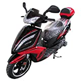X-PRO 150cc Moped Scooter Street Scooter Gas Moped 150cc Adult Scooter Bike (Red)
