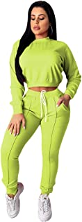 OLUOLIN Two Piece Outfits for Women Casual - Letter Printed Tops Joggers Pants Set Tracksuit