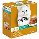 PURINA Gourmet Comida húmeda para Gatos Ragout refinada, Mezcla de variedades, 12 Unidades (12 x 8 latas de 85 g)