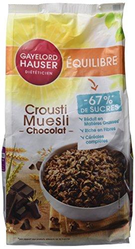Gayelord Hauser DiététicienCrousti Muesli aux Chocolats Réduite en Sucre 350 g