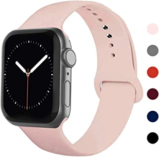 Ontube Bands Compatible with iWatch,Soft Silicone Adjustable Sport Replacement Straps for iWatch Series 5/4/3/2/1 (38mm/40...