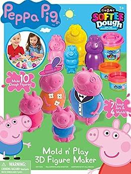 Cra-Z-Art Peppa Pig Softee Dough Mold N Play 3D Figure Maker