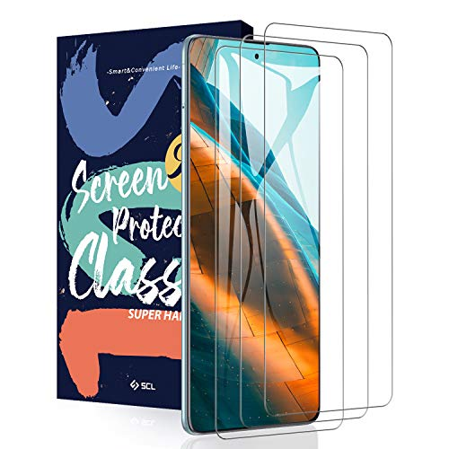 SCL Cristal Templado para Samsung A51/ A52 Protector Pantalla Samsung Galaxy A51 / A52 Cristal Templado [3 Piezas], [2,5D Borde Curvo, Apertura Precisa, 9H Dureza, Anti-Huellas, Sin Burbujas]