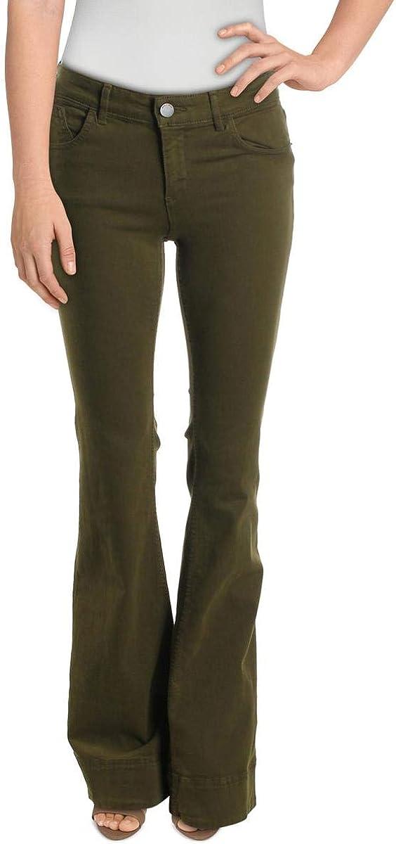 Alice + Olivia Womens 2021 new Ryley Stretch Spring new work Bell Bottom Denim Jeans