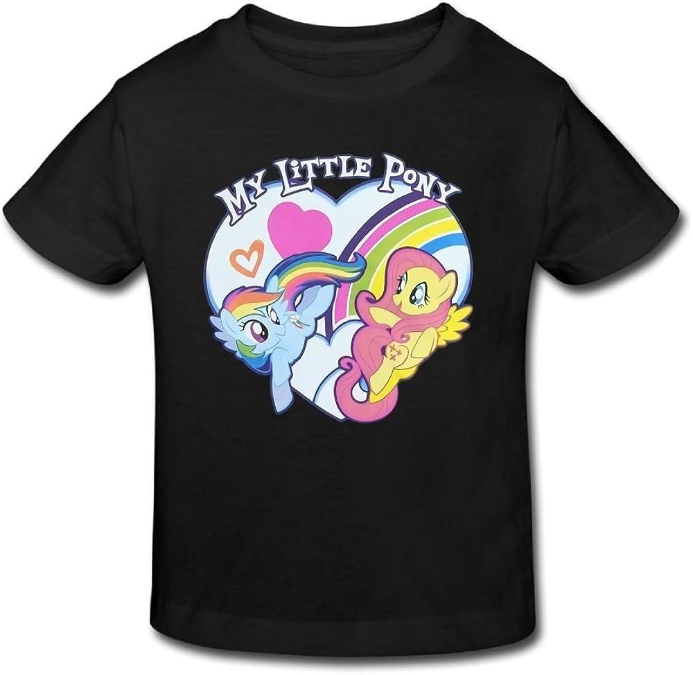 Ssuac Yi66 My Brave Little Pony Unisex Kids Fashion Short Sleeve Tank Top Cotton T-Shirt Pink