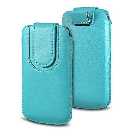 N4U Online Various Farbig Magnetisch PU Leder Zug Kippen Tab Schutzhüllen Tasche für Doogee X5S - Babyblau