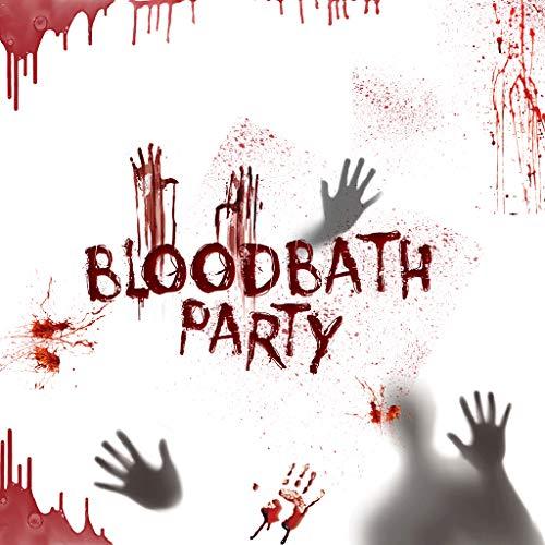 catyrre Halloween Horror Sticker, 3D Pumpkin Gull Ghost Wall Window Glasaufkleber für Halloween Home Party Dekor Props