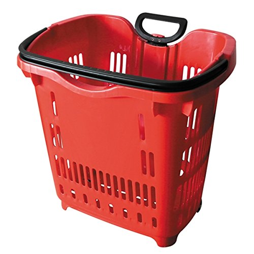 Rolling Shopping Baskets (Red)