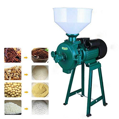 BTdahong 1500 W Molino de Grano Eléctrico, Molino de Alimentación, Trituradora Eléctrica de Alta Velocidad, Molinillo de Grano Café de Cereal Eléctrico con Embudo