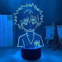 ゴンフリークスフィギュアキッズナイトライトLED常夜灯子供用寝室の装飾3DランプアニメハンターXハンターギフト-接する