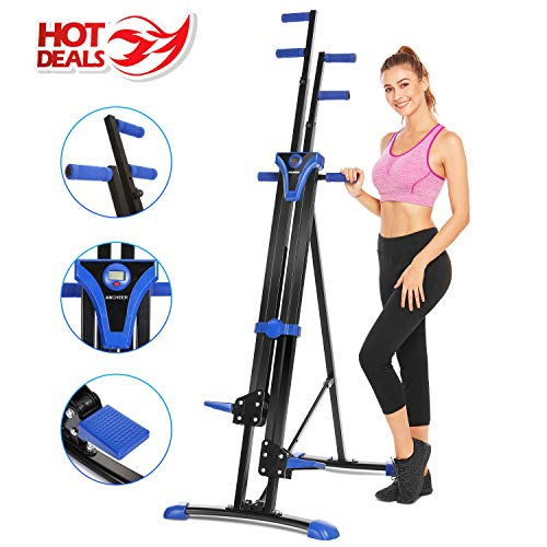 ANCHEER Folding Climber Machine, Indoor Vertical Step Fitness Machines, Compact Cardio Exercise Climbing Stair Stepper for Home Office Gym,US Stock