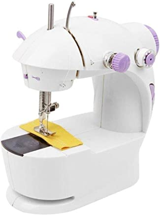 GOSHALI Multi Electric Mini 4 in 1 Desktop Functional Household Sewing Machine for Home