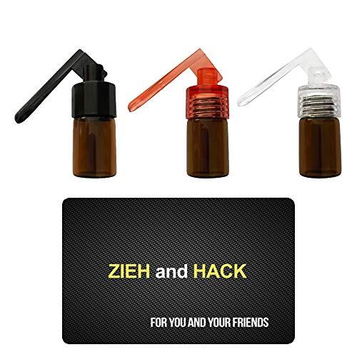 3 x Dosierer mit Löffel & Zieh and Hack Karte Straw Snuff Bat Snorter Nasal Tube Bullet Sniffer Snuffer Portionierer für Schnupftabak Schnupfset - Set wählbar (Set 1)