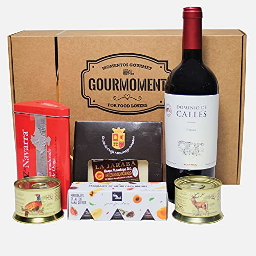 Smartbox - Caja Regalo - Caja Gourmoment a Domicilio: Surtido de quesos, patés y Vino Tinto - Ideas Regalos Originales
