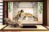 WH-PORP 3D Tapetes Hintergrund Landschaft Ägyptische Pyramiden Spion Gesicht Wandbild Tapete-128cmX100cm