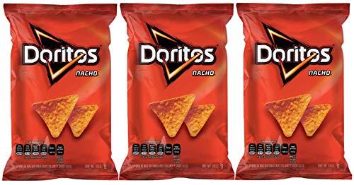 Doritos Nacho Mexican Version Sabritas (3 Pack 5.4oz each) Spicy Cheesy Corn Chips Famous Popular Classic Snacks Fun Bag Bulk Deal Fancy Appetizers grab varieties hot & queso flavor botanas Mexicanos