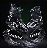 YUNZHI Los Zapatos Elásticos Saltan Fácilmente Guardaespaldas Espaciales Zapatos de Rebote Zancos Zapatos de Pérdida de Peso Rebotan Deportes Gordos,B-Large