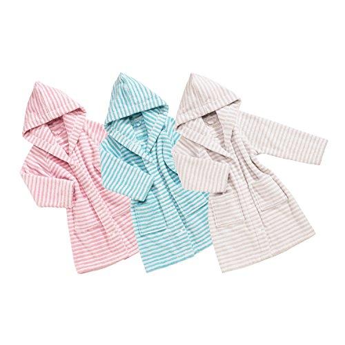 Vossen Baby & Kleinkind Baby Stripe Kindermantel Pearl Grey, 98/104