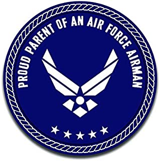 More Shiz Proud Parent of an Air Force Airman Decal Sticker Car Truck Van Bumper Window Laptop Cup Wall - Two 5 Inch Decals - MKS0315