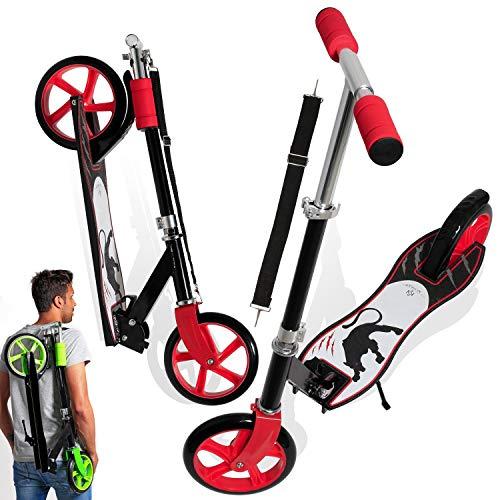 KESSER® Scooter Roller Kinderroller Cityroller Tretroller Kickroller Kickscooter, Design / Panther (White)