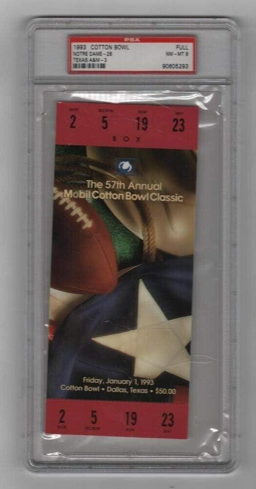 1993 [Alternative dealer] Cotton Bowl Full Ticket Notre Dame Max 46% OFF v 2 Pop AM Texas Highes