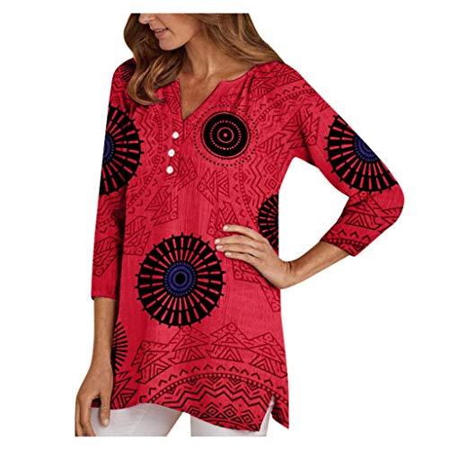 Women's Tops,Women Long Sleeve Tops Linen Ladies Baggy Blouse Shirt Plus Size Loose Casual Work Tunic Tops for Leggings Dress Shirts