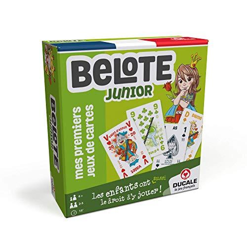 Ducale, le jeu français Belote Junior-Jeu de cartes Enfant,